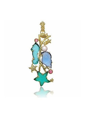 Marina Collection - Tourmaline & 18K Gold Pendant - Tagliamonte