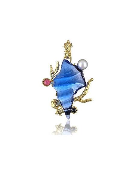Tagliamonte Collection Marina - Pendentif en or 750/1000, tourmaline et étoile bleue