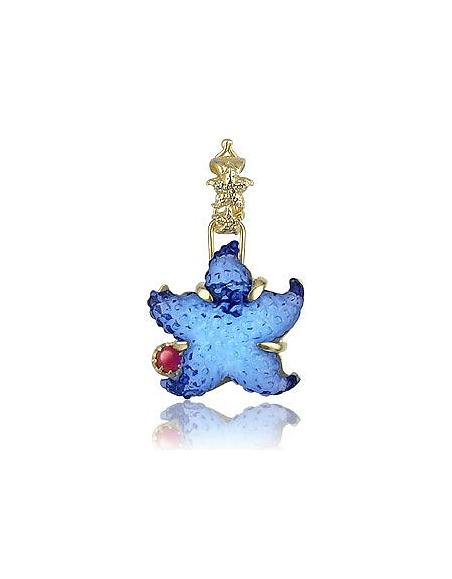 Tagliamonte Collection Marina - Pendentif en or 750/1000, rubis et étoile bleue