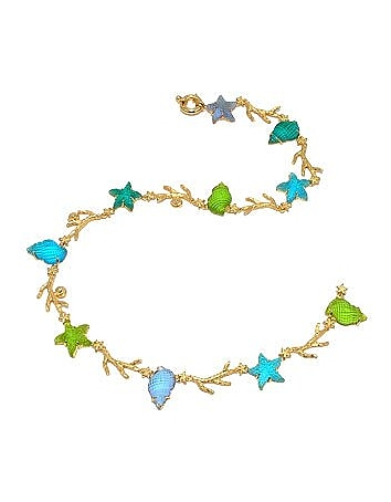 Tagliamonte - Marina Collection - Blue & Green 18K Gold Necklace