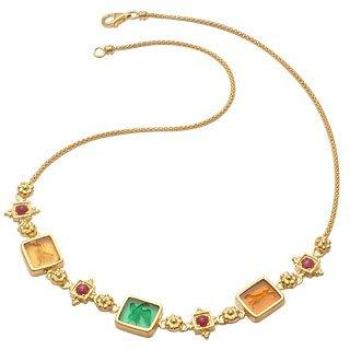 Classic Collection - 18K Gold and Ruby Necklace