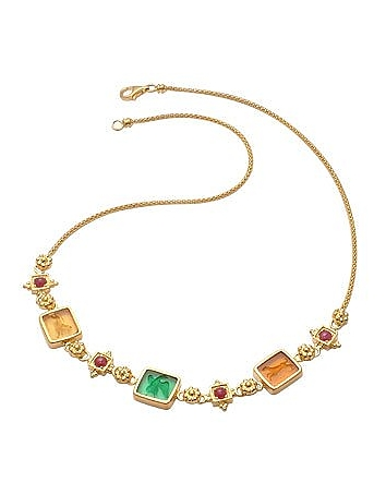 Tagliamonte - Classic Collection - 18K Gold and Ruby Necklace