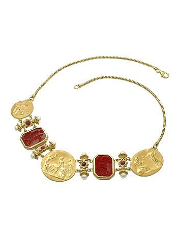 Tagliamonte - Classics Collection - 18K Gold and Ruby Necklace