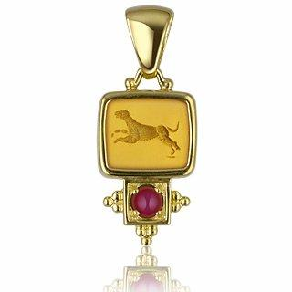 Forzieri FR Tagliamonte Collection classique - Pendentif or 750/1000 et rubis