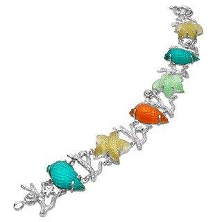 Marina Collection - Multicolor 18K Gold Bracelet