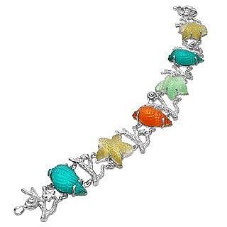 Marina Collection - Multicolor 18K Gold Bracelet  - Tagliamonte