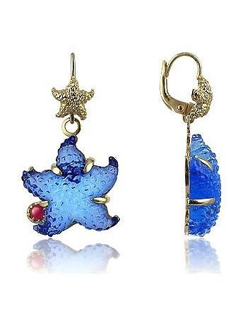 Tagliamonte - Marina Collection - Blue Starfish Rubie & 18K Gold Earrings