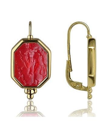 Cercei din aur TAGLIAMONTE, 18 k, colecția clasică