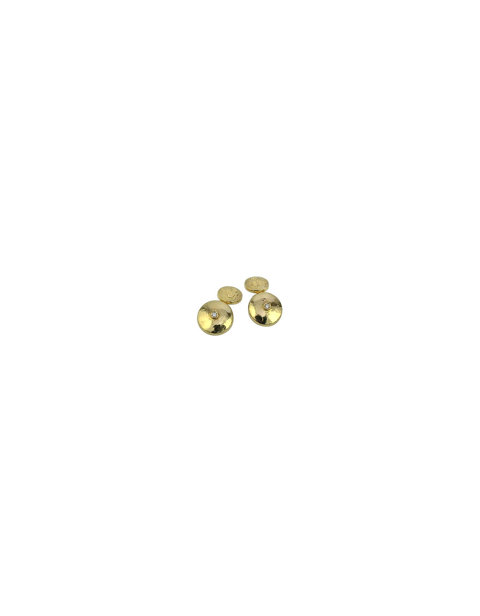 Torrini Cufflinks, 18K Yellow Gold Diamond Cufflinks
