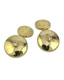 18K Yellow Gold Diamond Cufflinks - Torrini