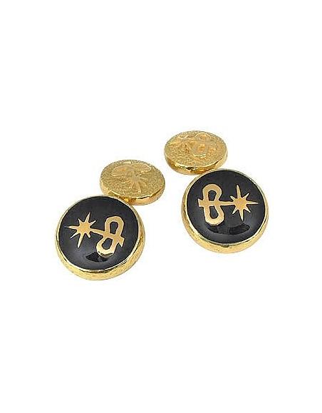 Torrini Logo-Manschettenknöpfe aus Gold und Email
