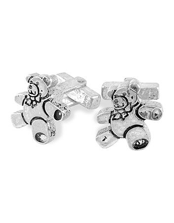 Torrini - Sterling Silver Teddy Bear Cufflinks