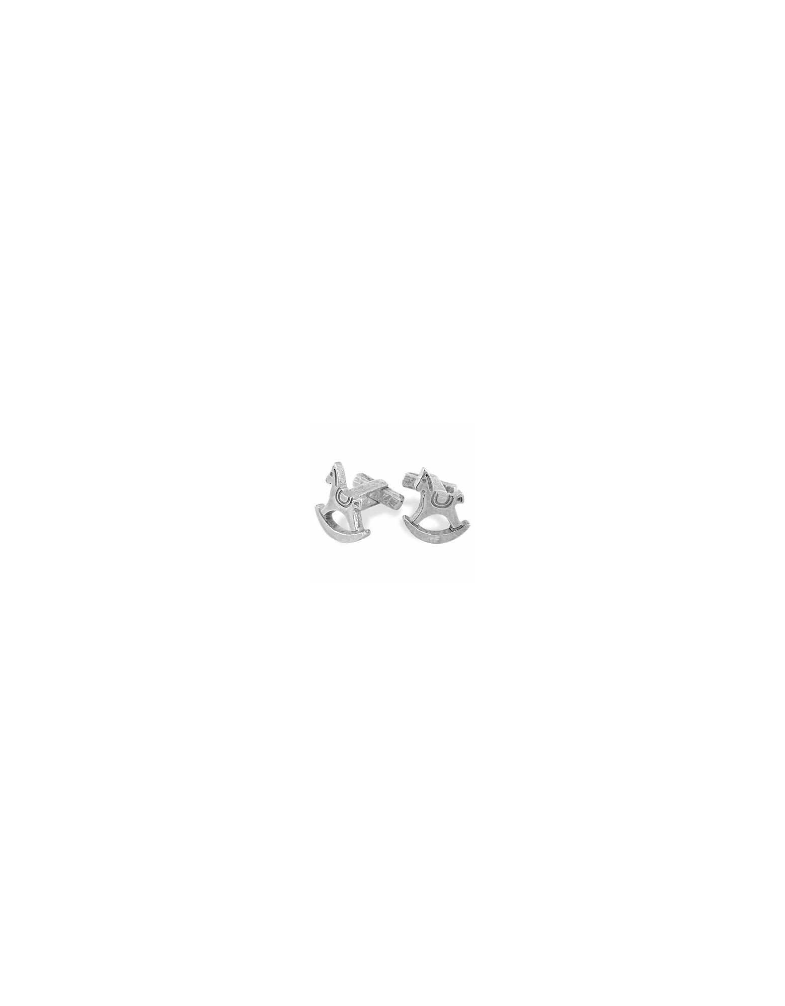 Torrini Cufflinks, Sterling Silver Rocking Horse Cufflinks