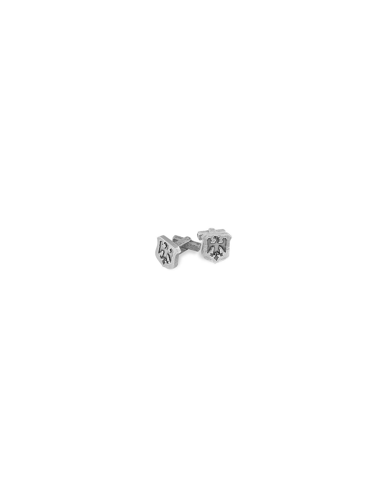 Torrini Cufflinks, Sterling Silver Eagle-Crest Cufflinks