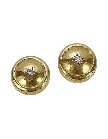 Torrini - 18K Gold and Diamond Star Button Covers