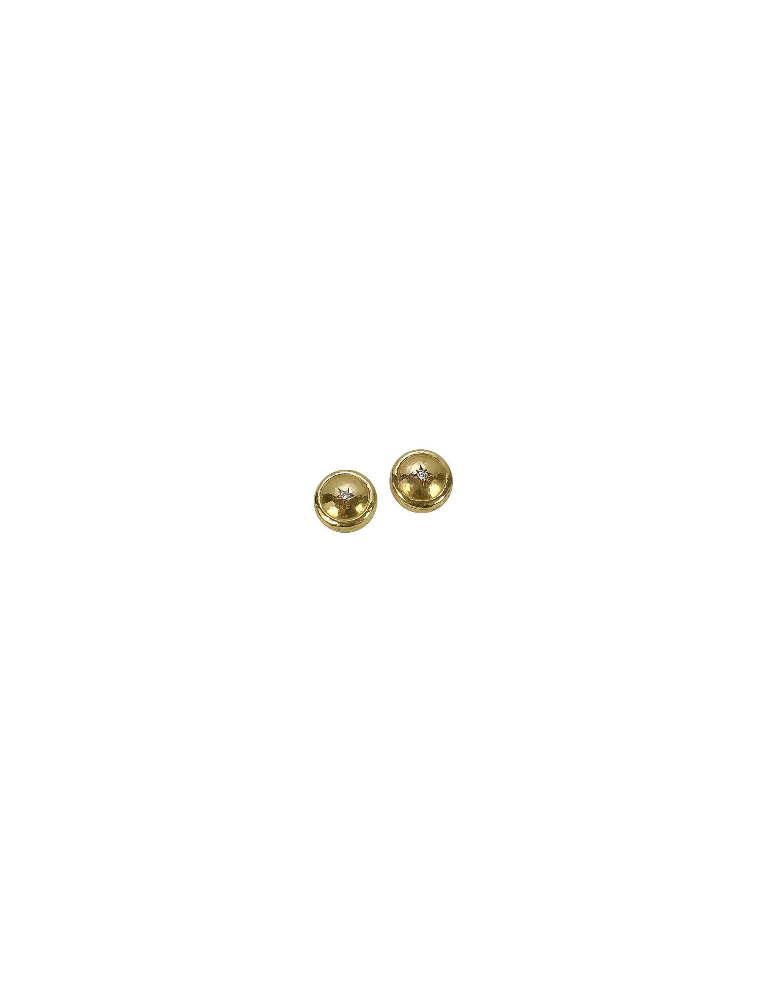 Torrini Button Covers, 18K Gold and Diamond Star Button Covers