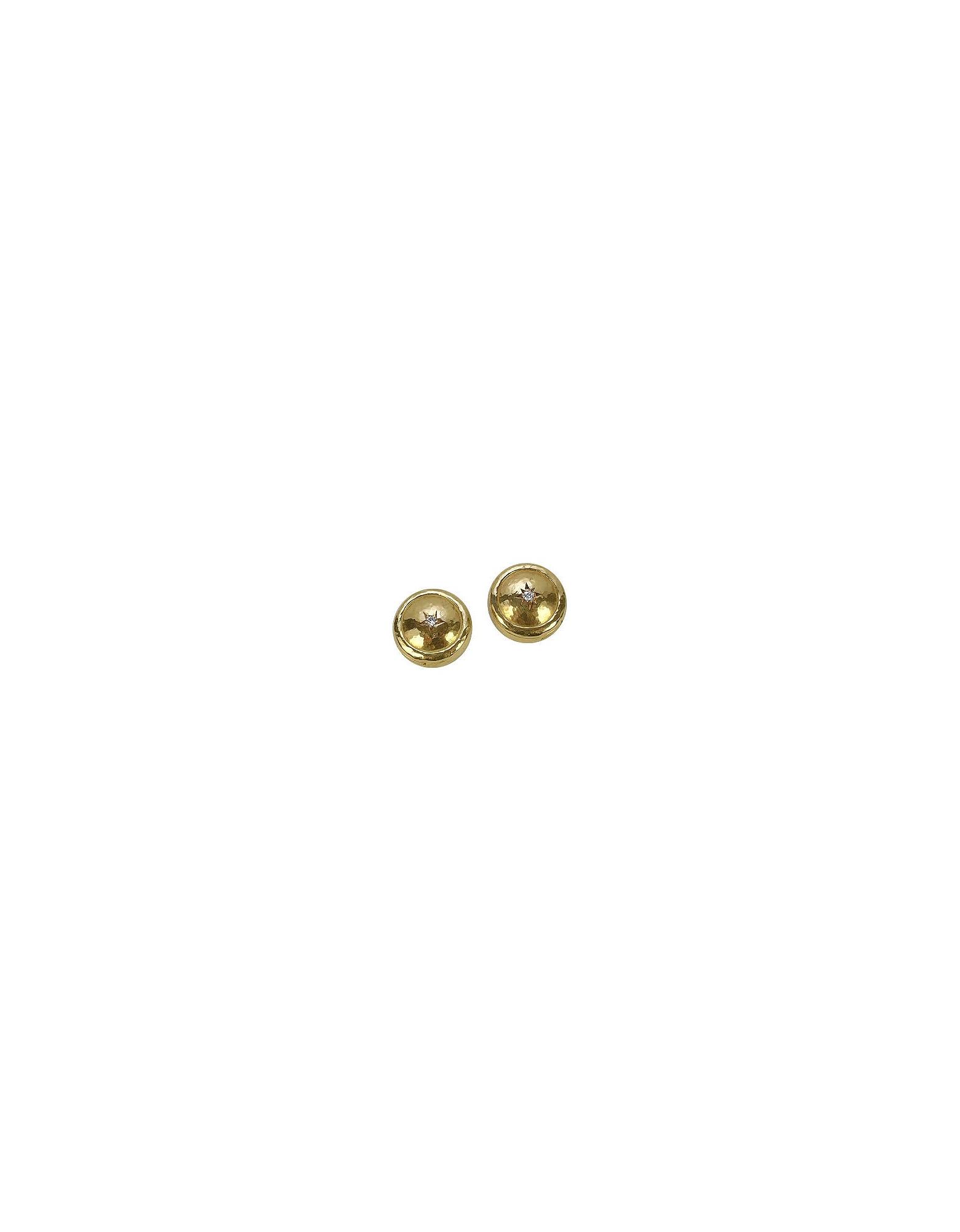 Copribottoni in Oro Nativo Realizzati a Mano con Diamanti