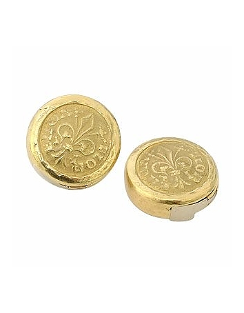 Torrini - Fiorino - Fleur-de-Lis 18K Yellow Gold Button Covers