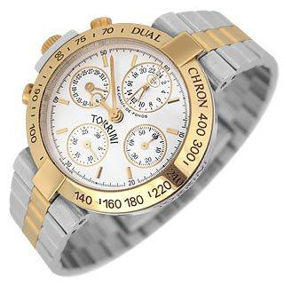 Torrini Dualchron Midas - Dual Time Steel and Gold Chronograph Watch