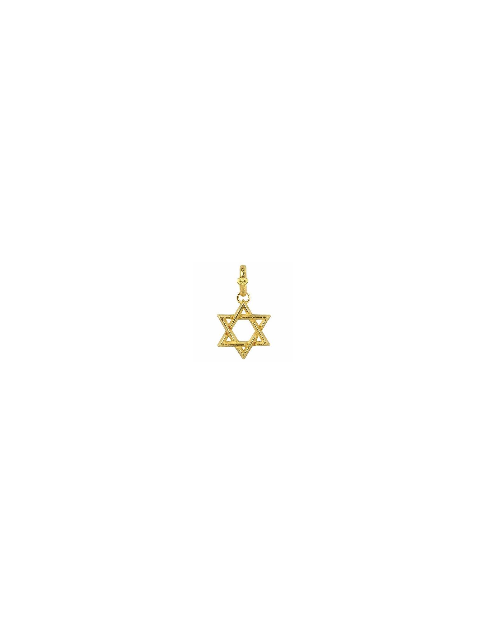 Torrini Necklaces, Stella di David - Large 18K Yellow Gold Pendant