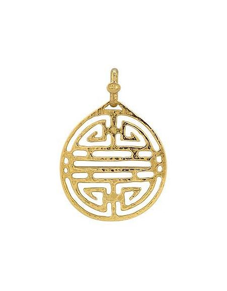 Torrini Labyrinthe chinois - pendentif or jaune 750/1000