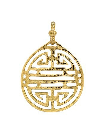 Chinese Labyrinth - 18k Yellow Gold Pendant