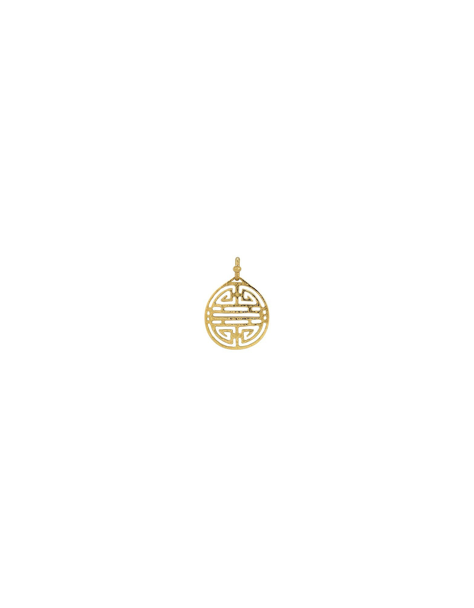 Torrini Necklaces, Chinese Labyrinth - 18k Yellow Gold Pendant