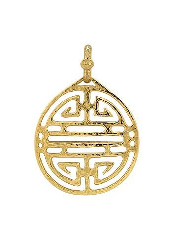 Chinese Labyrinth - 18k Yellow Gold Pendant - Torrini