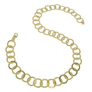Tuscania - 18K Yellow Gold Large Chiselled Chain