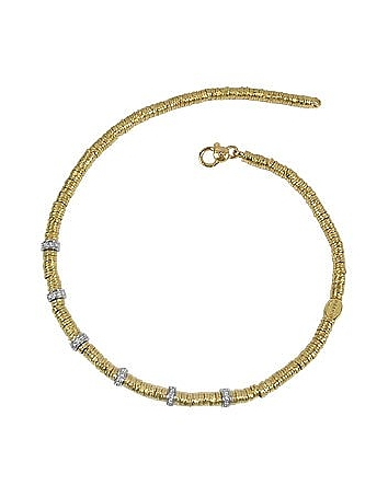 Torrini - Rondelle Moving Big - 18K Yellow Gold and Diamond Necklace