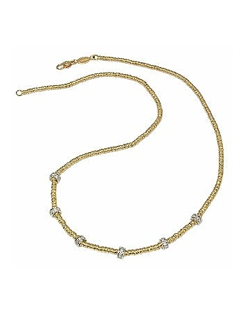 Torrini - Rondelle Moving Mini - 18K Yellow Gold and Diamond Necklace