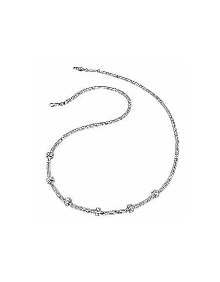 Torrini Rondelles minis - Collier or jaune 750/1000 et diamants 0.40Ct