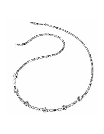 Torrini - Rondelle Moving Mini - White Gold and Diamond Necklace