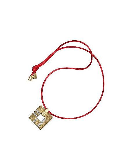 Torrini Amore - Pendentif carré découpé en or et diamant