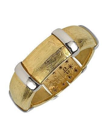 Torrini - Morphos - 18K Yellow and White Gold Cuff Bracelet