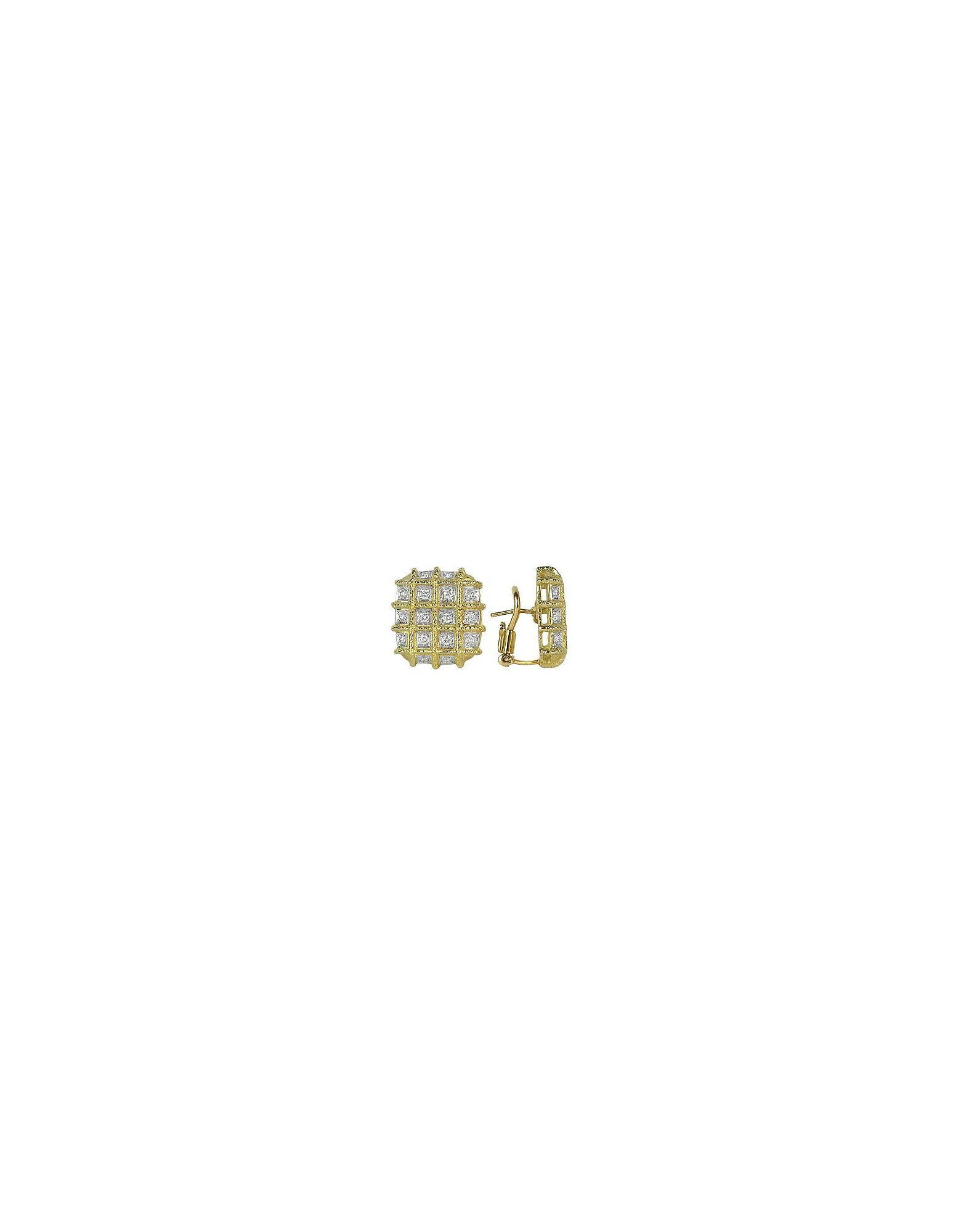 Torrini Earrings, Wallstreet - 18K Yellow Gold Diamond Earrings