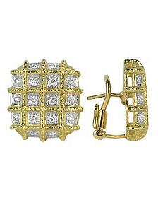 Wallstreet - 18K Yellow Gold Diamond Earrings - Torrini