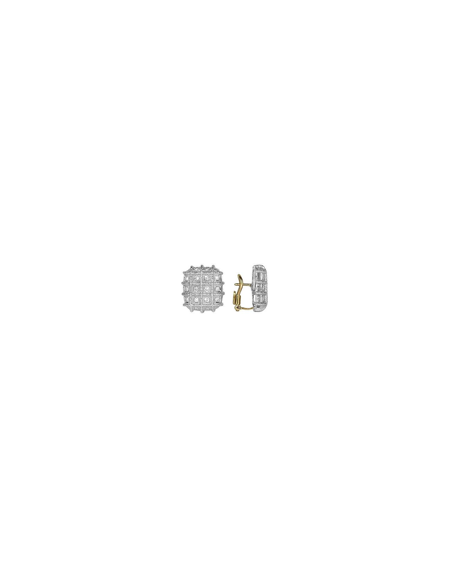 Torrini Earrings, Wallstreet Collection - 18K White Gold Diamond Earrings