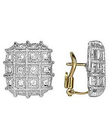 Wallstreet Collection - 18K White Gold Diamond Earrings - Torrini