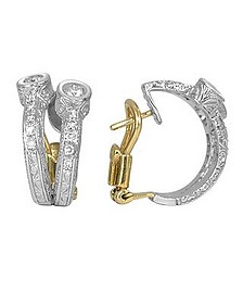 Liu Collection - 18k White Gold and Diamond Earrings - Torrini