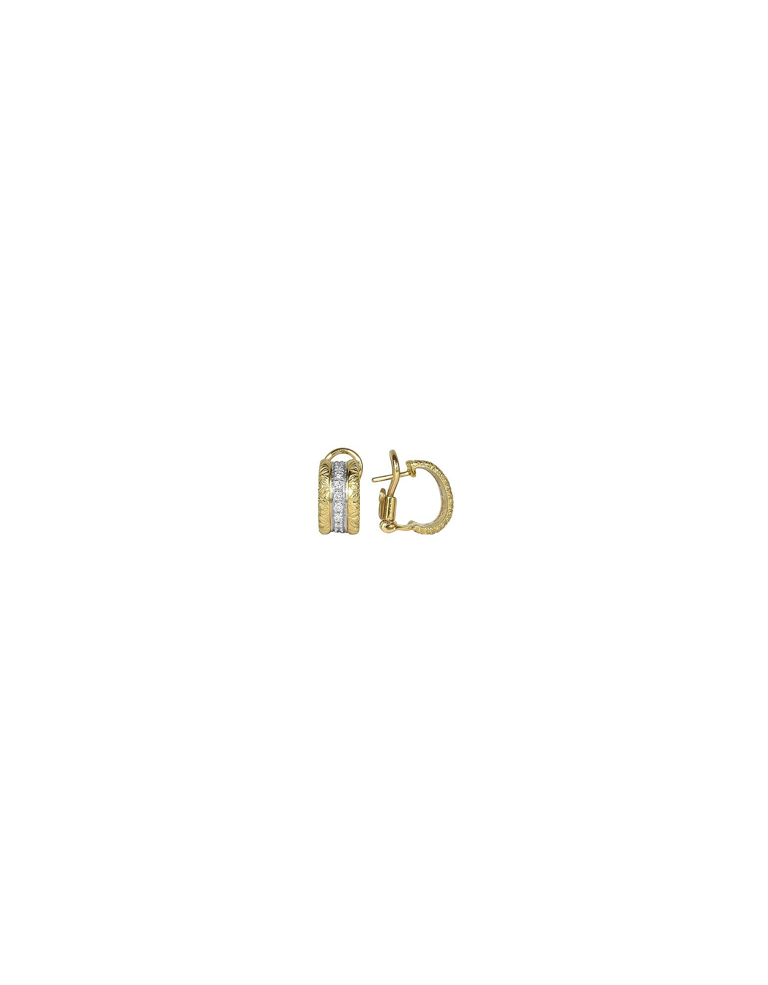Torrini Designer Earrings, Mini-Denise - 18K Yellow Gold Diamond Earrings
