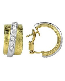 Nancy - 18K Yellow Gold and Diamond Earrings - Torrini