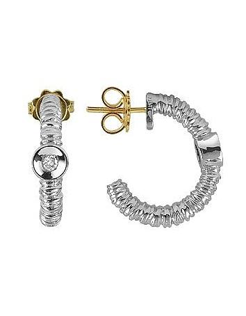 Torrini - Rondelle - 18K Gold and Diamond Earrings