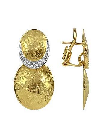 Torrini - Lenticchie - 18K Gold and Diamond Earrings