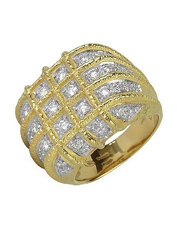 Inel TORRINI Wallstreet, din aur cu diamante, 18k