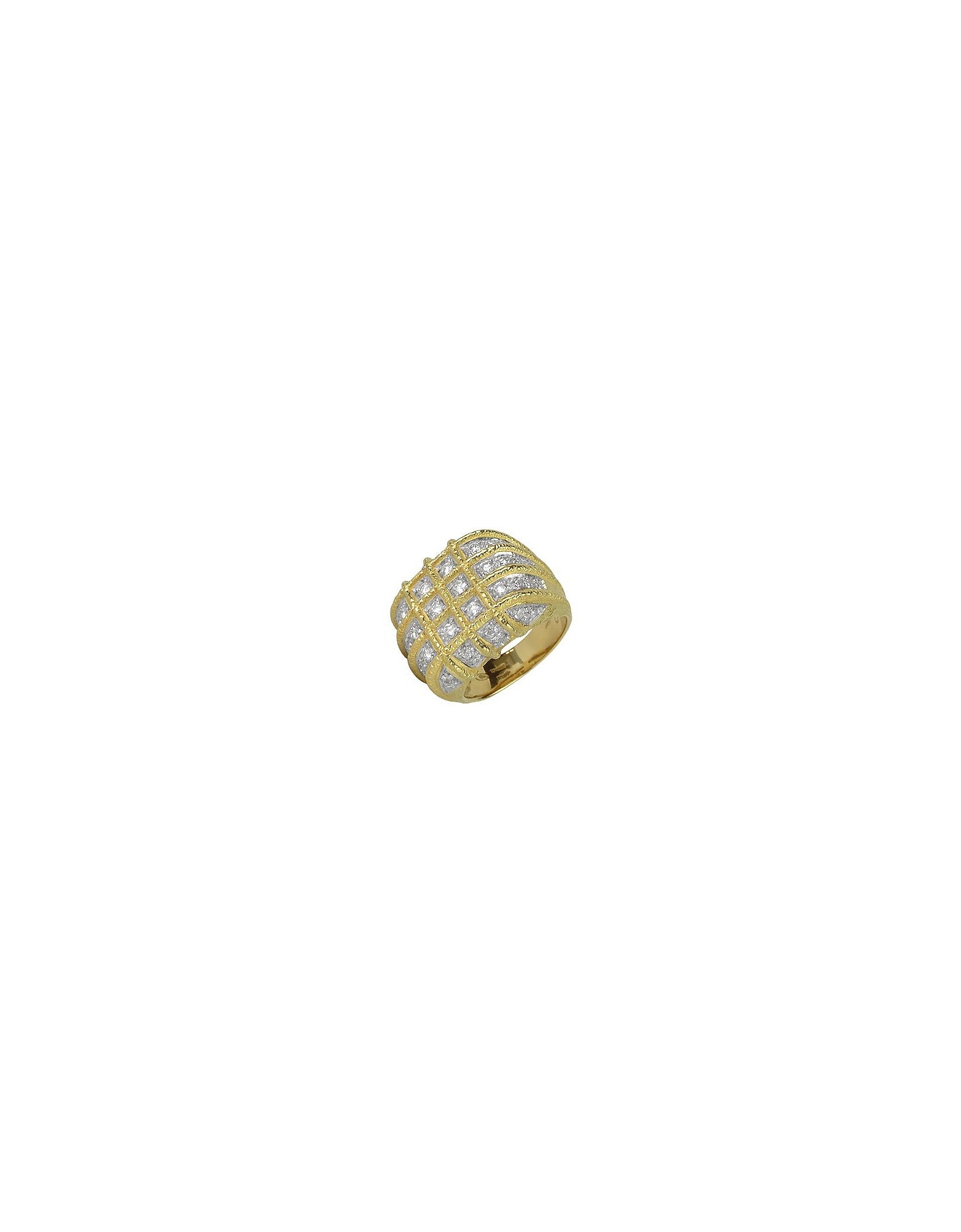 Torrini Rings, Wallstreet - 18K Yellow Gold Diamond Ring