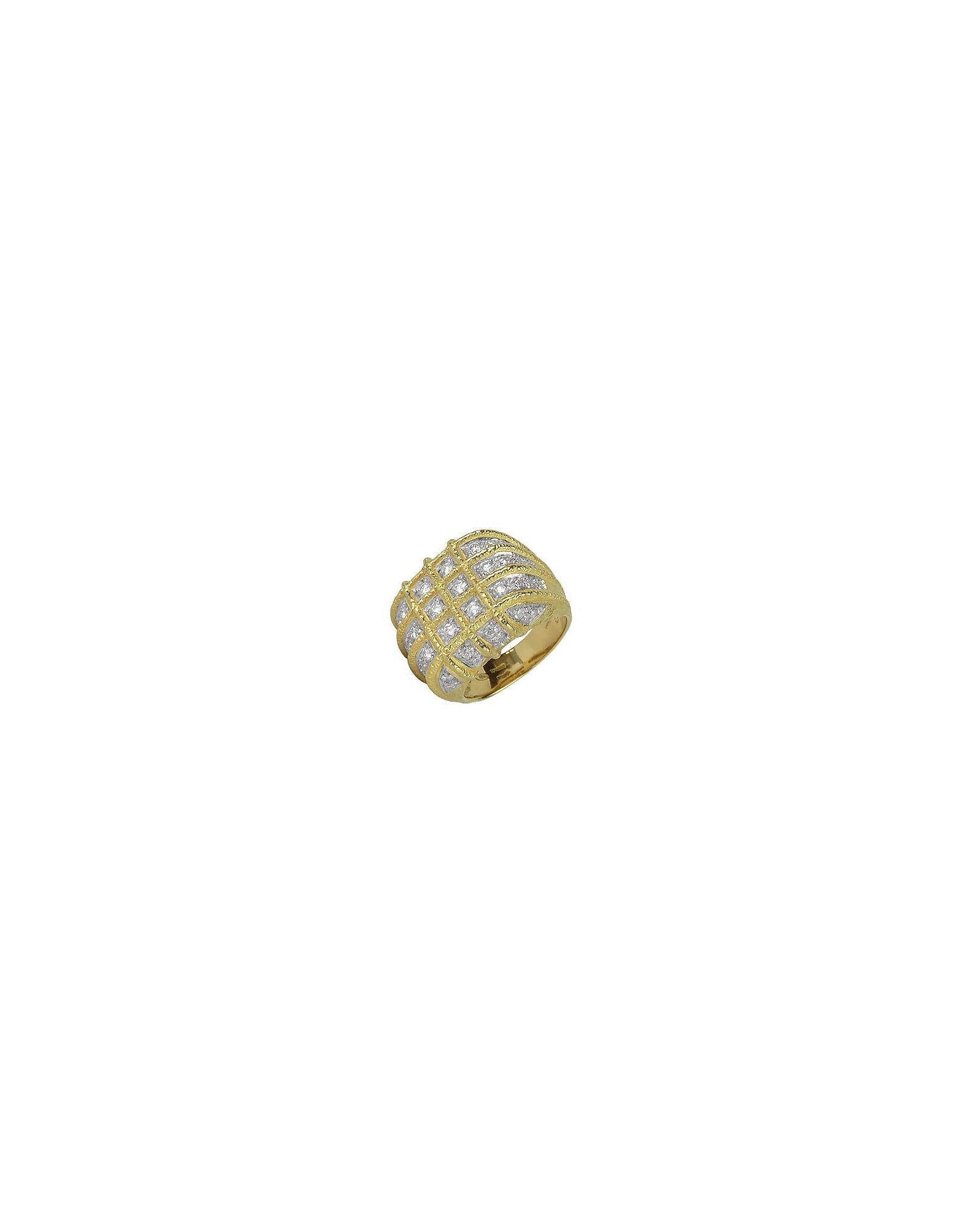 Torrini Rings, Wallstreet - 18K Yellow Gold Diamond Ring
