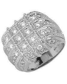 Wallstreet - 18K White Gold Diamond Ring - Torrini
