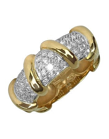 Inel TORRINI Twister, din aur cu diamant, 18k