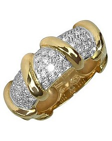 Twister - 18K Yellow Gold Diamond Ring  - Torrini